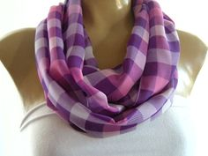 A classy pattern in spring-summer colors.perfect combination of purple and pink!.  perfect scarf for everyday use    The Instant Gratification