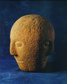 The Corleck Head-probably a symbol of the unity of past, present and future. (National Museum of Ireland)