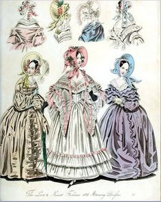 The World of Fashion and Continental Feuilletons 1838 Plate 46 by CharmaineZoe, via Flickr