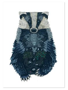 The quiet revolution. My next tattoo will be of a badger. because I am a hufflepuff (look them up if you want to know more about me) because my Father insists on calling himself 'badgerbod' and my Mother 'Mrs. Badger Illustration, Illustration Art, Animal Illustrations, Badger Tattoo, Animal Medicine, Quiet Revolution, Woodland Creatures, Heart Art, Autumn Inspiration