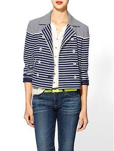Stripe by N Mixed Stripe Jacket | Piperlime