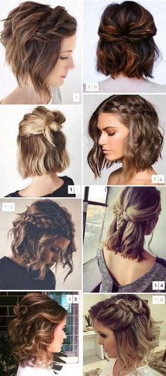 35 cute hairstyles for short hair 2018 # fashionhijab . - 35 cute hairstyles for short hair 2018 # fashionhijab - Medium Length Hairstyles, Cute Hairstyles For Short Hair, Hairstyles Haircuts, Short Haircuts, Curly Hair Styles, Short Hair Braid Styles, Short Hair Wedding Styles, Braiding Short Hair, Short Hair Styles Easy