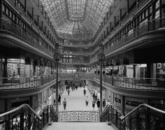Erected in 1890, the Arcade opened on Memorial Day and is identified as one of the earliest indoor shopping malls in the United States. The construction was financed by John D. Rockefeller, Marcus Hanna, Charles F. Brush and several other wealthy Clevelanders of the day.