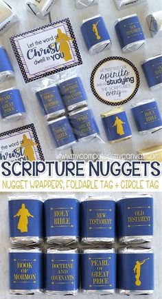 These are great! LDS Scripture Nugget Wrappers {Standard Works} PRINTABLE (affiliate)