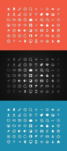 70 Free Icons  #freepsdfiles #flatdesign #flatpsdtemplates #webelements #uikits #vectoricons