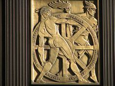75 Federal St Art Deco Relief, via Flickr.