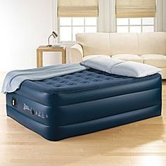 Love this air bed from JC Penney! My daughter just slept on it for 2 weeks while Grammy visited. Inflated easily. Stayed inflated. Easy to deflate and place in storage bag...fold in thirds and thirds again.