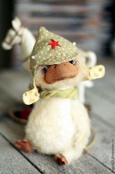 Мишки Тедди ручной работы. Ярмарка Мастеров - ручная работа. Купить Петька. Handmade. Белый, тедди гусик, коллекционные игрушки