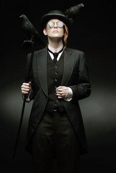 crow, dandy, dark, elegance, fashion, steampunk