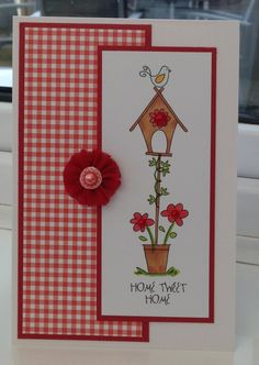 New home card using pink petticoat home sweet home image :)