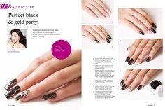 Cosmonails  PERFECT BLACK & GOLD PARTY Step by Step presente sulla rivista love nails Ludmylla Bezerdik