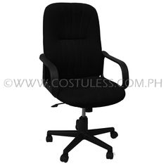 Product Code: HBC-148  Sale Price:	P3 199.00  Features:Ergodynamic™ High Back Office Chair, Fabric Upholstery, 300mm Nylon Base & Nylon Casters, Tilt Lock Mechanism, Swivel Function, Pneumatic Height Adjustment  Product Measurement: 61L x 48W x 101-111Hcm  Chair Capacity: 80kgs. Classification: MEDIUM DUTY  Usage: OFFICE USE