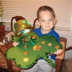 See a picture of the Leprechaun Trap made by Austin.
