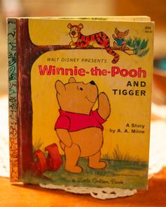 Vintage Little Golden Book Winnie the Pooh and Tigger by MBlackArt, $7.50