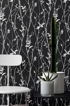 Papel pintado Eco. Colección Black & white. Ref. 6061.