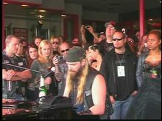 """ZAKK WYLDE plays """"In This River"""" at the Dimebag Darrell Rock Walk Induction 2007 Hollywood Guitar Center. May God bless Dimebag Darrell. Zakk Wylde, Dimebag Darrell, Rock Wall, Musical, Feels, Hollywood, River, Concert, Youtube"""
