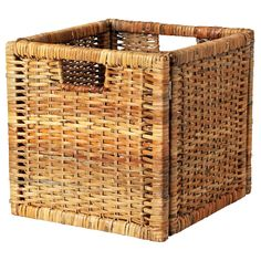 """BRANÄS Basket - rattan, 12 ½x13 ¾x12 ½ """" - IKEA - use as drawers for hidden storage on the Expedit - $13"""