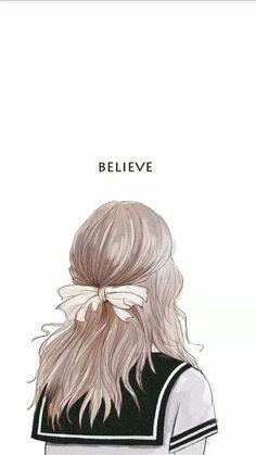 Cute art drawings sketches hair 21 ideas for 2019 Cute Wallpapers, Wallpaper Backgrounds, Iphone Wallpaper, Anime Art Girl, Manga Art, Anime Girls, Tmblr Girl, Drawn Art, Illustration Art