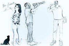 "Officinarkitettura® Collection ""Potraits"" enjoy your fabulous potrait , on wallpaper or thin laminated porcelain #architecture #art #design #wallpaper  www.officinarkitettura.it"