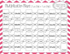 Great way to practice two-digit by two-digit multiplication!