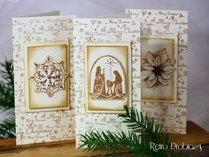 15 minutes stamped christmas cards