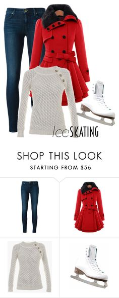 """""""Ice Skating"""" by aquadolphin ❤ liked on Polyvore featuring J Brand, Balmain and Riedell"""