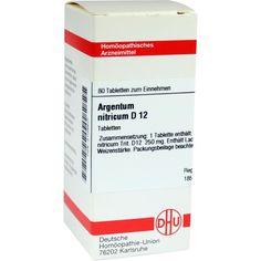 ARGENTUM NITRICUM D 12 Tabletten:   Packungsinhalt: 80 St Tabletten PZN: 02109907 Hersteller: DHU-Arzneimittel GmbH & Co. KG Preis: 5,95…