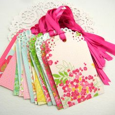 Wedding WiSH TREE Escort Cards- Tags (Spring Fling) Wedding Shower- Wedding Decoration- Bridal Shower, Place Name Cards- Favor Tags. $9.20, via Etsy.