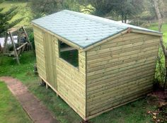 Pressure Treated Garden Sheds  by Davies Timber Wales Ltd.