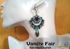 Vanity Fair Earrings  PDF Beading tutorial in Italian or in