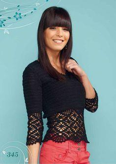 Crochetemoda: Blusa Preta de Crochet III