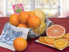 Sunshine Daisy Gift Basket - Oranges & Ruby Red Grapefruit - Hale Groves #oranges #grapefruit #anniversary