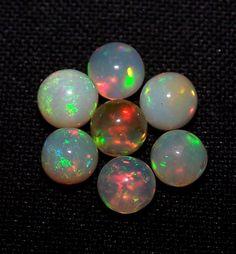 Masterpiece Insane Rainbow Fire(7) Ethiopian Opal Round Ball Sphere 5-5.7 MM AAA #ShineStarInternational