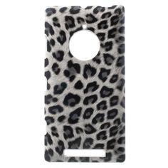Mesh - Nokia Lumia 830 Hoesje - Back Case Hard Luipaard Grijs | Shop4Hoesjes