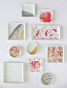 DIY Mother's Day Gift - Ring Dishes - you could go crazy at a thrift store, finding ceramics, china, or even glassware to upgrade. Diy Mothers Day Gifts, Diy Gifts, Kids Decor, Diy Room Decor, Wax Paper Crafts, Diy Craft Projects, Diy And Crafts, Mother's Day Diy, Ring Dish