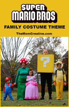 Super Mario Bros. Group Costume Theme #costume #halloweencostume