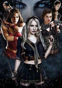 Aeon Flux, Elektra, Babydoll, Alice, Lara & Selene | Ass kicking ladies