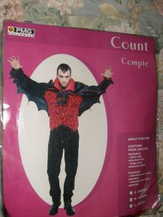 MEN'S COUNT VAMPIRE DELUXE MEDIUM 22-24 HALLOWEEN COSTUME WITH BAT CAPE NEW PMG #PMG #SHIRTVESTCAPEJABOT