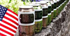 DEAD SOLDIERS ON BEER CANS? - Have a drink, toast a fallen hero then throw the can away. On each beer can Dog Tag Brewing produces, a fallen soldier's full title, name and full story are printed on the side. In spite of the help this company claims it is providing to veterans and their families, such crass commercialism of the ultimate sacrifice a soldier can give is not striking everyone as a keen gesture. https://rosecoveredglasses.wordpress.com/2015/09/17/dead-soldiers-on-beer-cans/