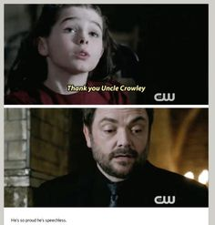 Supernatural Memes, Supernatural Seasons, Crowley, Castiel, Mark Sheppard, The Bad Seed, Guys And Girls, Boys, Misha Collins