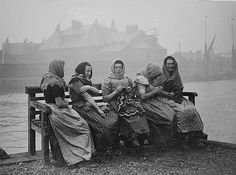 Thes women followed the fishing fleets down the East Coast gutting the herring.