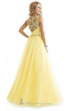 New yellow Sexy Long Chiffon Evening Formal Party Wedding Prom Dress Ball Gowns