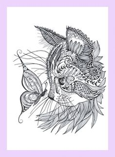 Cat doodle - coloring pages                                                                                                                                                      More