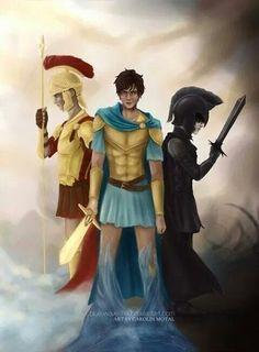 The Big Three - Percy, Jason and Nico.