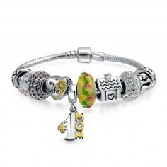 Bling Jewelry Sterling Silver Family Love Mother Charm Bracelet Fits Pandora