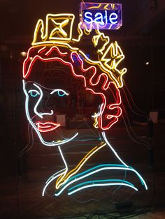 Queen Elizabeth II - London shop window