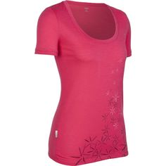 The women's Icebreaker Short Sleeve Tech Scoop Cluster is a versatile tee made from lightweight 150gm pure merino fabric. And it's really  fit for a teenage girl or a women. Buy it for only $44.95