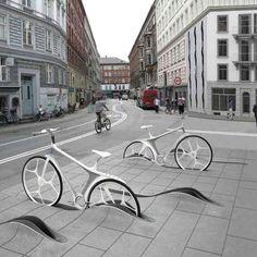 Cool bike parking