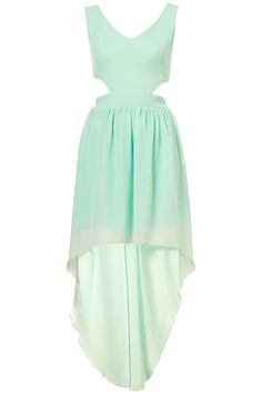 Seafoam/mint-coloured tie back maxi dress