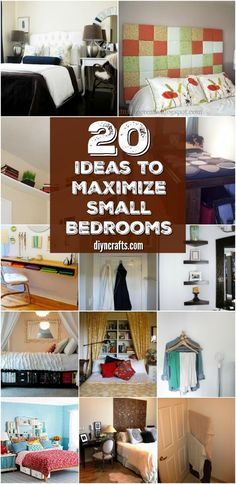 20 Space Saving Ideas and Organizing Projects to Maximize Your Small Bedroom. Small Bedroom Ideas For Couples Bedroom Storage For Small Rooms, Small Bedroom Ideas For Couples, Small Bedroom Organization, Small Bedroom Designs, Small Room Design, Bedroom Small, Trendy Bedroom, Organization Ideas, Warm Bedroom